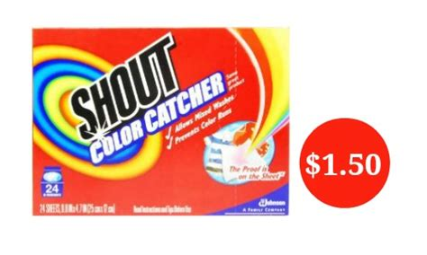 color catcher shout coupon color catcher for 1 50 southern savers