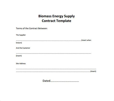 supply contract template    documents   word