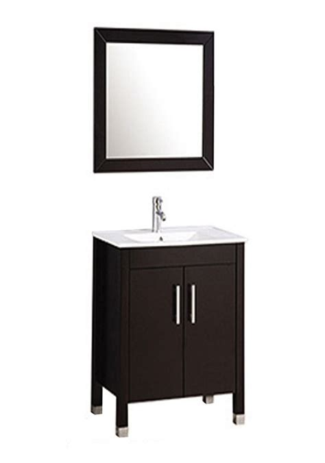 mtd monaco single 24 inch modern bathroom vanity set