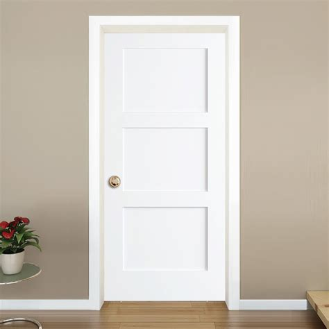 Ordinary Shaker Style Living Room Furniture #3: 3-Panel+Shaker+Solid+Wood+Paneled+Slab+Interior+Door.jpg