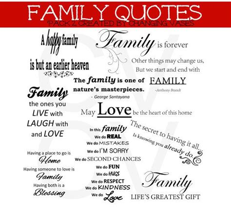 printable scrapbooking quotes printable instant download family word art collection 10