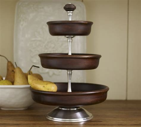 Kitchen Rugs Fruit Design manchester 3 tier stand traditional serveware by