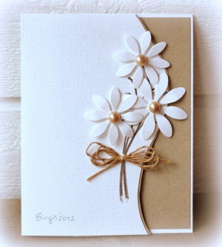 Attractive Handmade Cards - handmade card clean and simple die cut daisies go