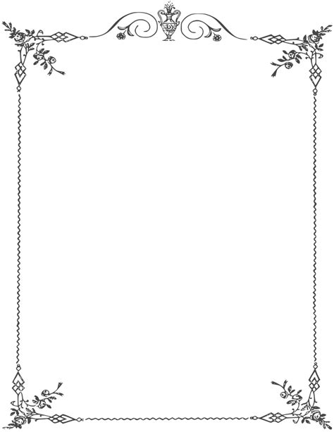 Bordir Elegan White page border cliparts co