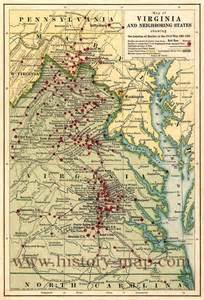 civil war battles in map map of civil war battles in virginia maps