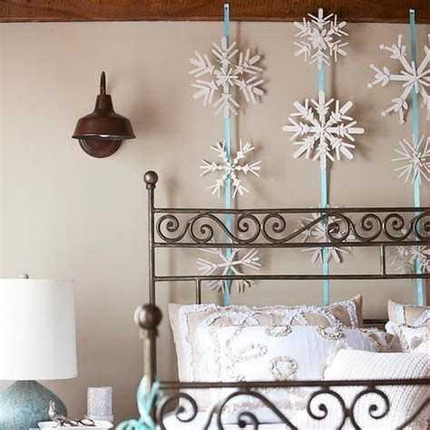 winter home decorations 33 ways to use snowflakes for winter home decorating