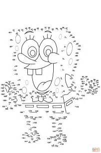 dot to dot puzzles for printable spongebob dot to dot free printable coloring pages