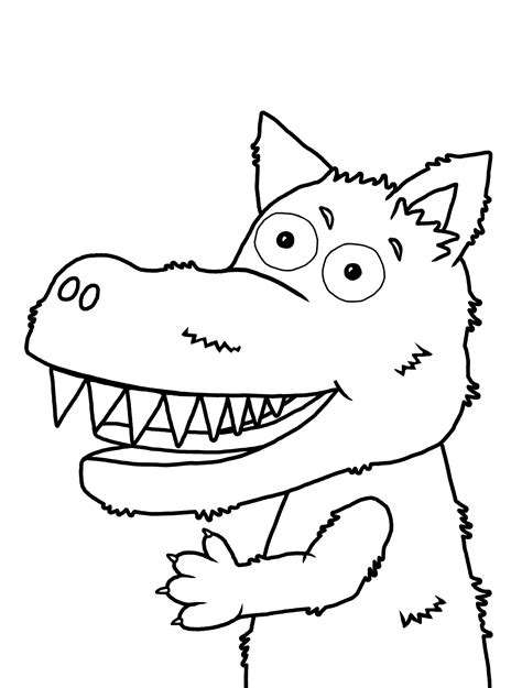 mr wolf coloring page download and print fairy tales priddy books