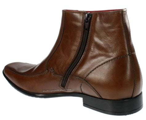 mens zip up chelsea boots mens brown leather ankle zip up boots square
