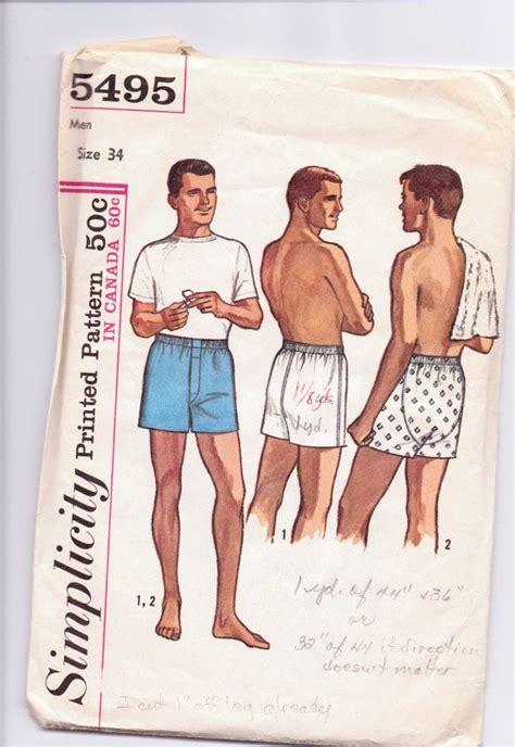 vintage underwear pattern free vintage simplicity pattern mens boxer shorts underwear