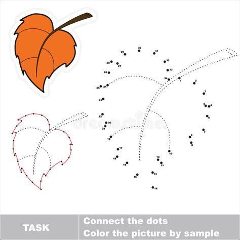 Dotted Leafs 1 vector numbers autumn leaf to be traced stock vector illustration of mind outline