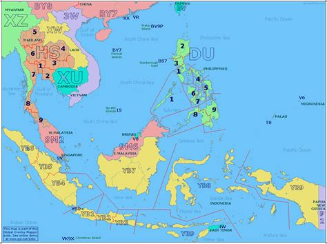 map of south east asia south east asia prefix map