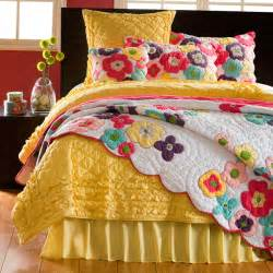 Colorful Quilts And Coverlets Kamila Flower Quilt And Sham Separates Contemporary