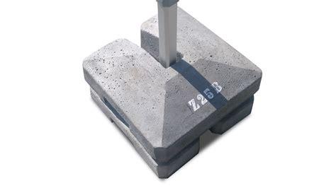 zavorre per gazebo zavorra in cemento per tendostruttura manufatti zulberti