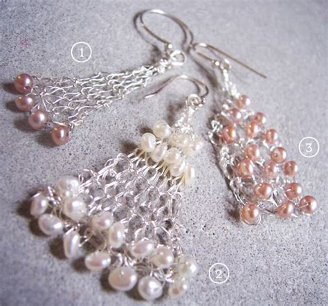 bead knitter gallery owlings ii yarn pretty things bead and wire knitted earrings tutorials the beading gem