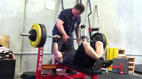 feet up bench press 400lb raw feet up bench press youtube