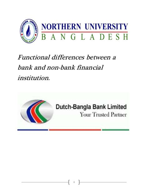 Difference Between Financial And Non Financial Letter Of Credit Functional Differences Between A Bank And Non Bank Financial Institut