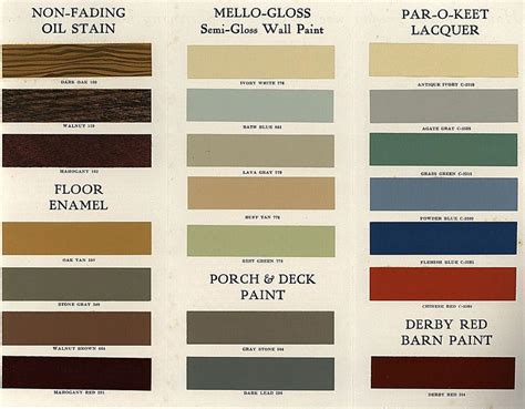 lowe s brothers paint and stain 1930 colorways