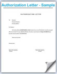 Authorization Letter Sample Format Authorization Letter Sample The Letter Sample