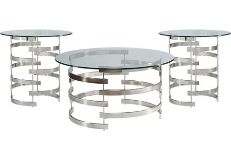 rooms to go coffee tables baylor metal 3 pc table set table sets metal