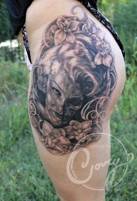 sd tattoo marylin skull by claussen tattoonow