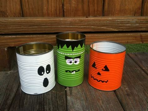 Bahan Deco Diy Deco Craft painted recycled tin cans for decorations tin