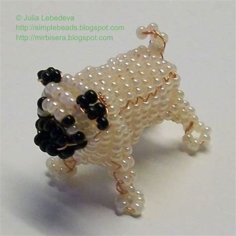 pug tutorial beaded 3d pug free detailed tutorial free beading tutorials by lebedeva