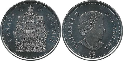 50 cent coin value coins and canada 50 cents 2014 canadian coins price