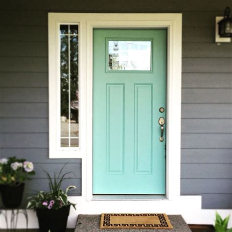 accent front door color kentucky bluegrass by glidden home decor