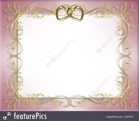 invitation illustrator template templates wedding or invitation border stock