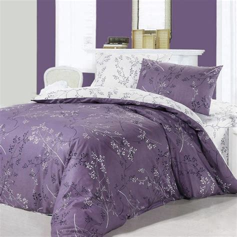 romantic comforters purple and white romantic forest scene tree branch print
