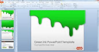 powerpoint 2010 free templates free green ink powerpoint template free powerpoint