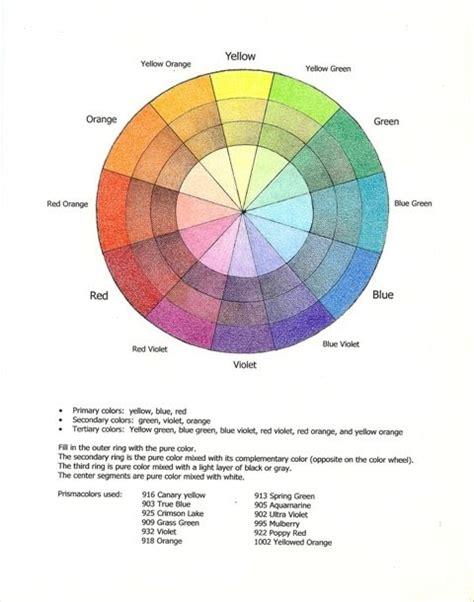prismacolor pencil color wheel bartoe art colored pencil color mixing