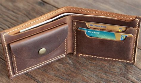 How To Make Handmade Wallets - distressed leather wallet with coin pocket by joojoobs
