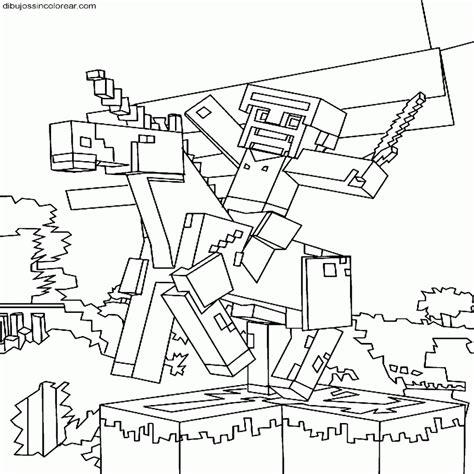 dibujos de minecraft para imprimir y colorear blogitecno dibujos de esqueletos para colorear e imprimir