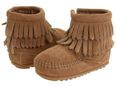 minnetonka fringe boots toddler minnetonka fringe side zip bootie infant
