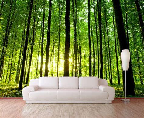 green wallpaper murals green forest trees mural wallpaper reposition able peel