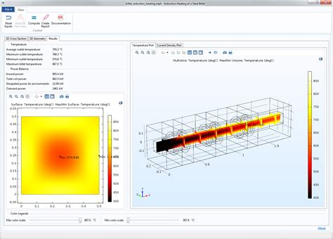 induction heating temperature range ac dc module comsol 5 2 release highlights