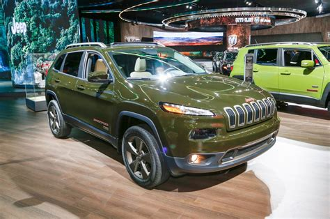 green jeep cherokee jeep celebrates 75th birthday with special edition models