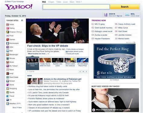 yahoo web page layout marissa mayer s new yahoo com homepage business insider