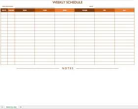 Weekly Shift Schedule Template by Printable Weekly Schedule Sun Sat Calendar Template 2016