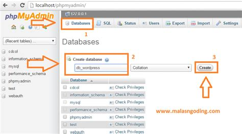 membuat database untuk wordpress belajar wordpress part 1 cara install wordpress offline