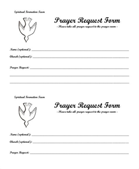 docs template church prayer card sle prayer request form 10 free documents in pdf