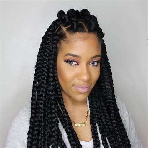 How To Do Jumbo Box Braids | how to jumbo box braids rubberband method video