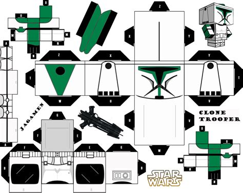 Wars Papercraft - clone trooper cubeecraft by jagamen on deviantart