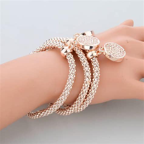 2017 new fashion bracelets bangles jewelry gold plated