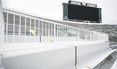 student section at michigan stadium spartan stadium adds accessible seating to student section