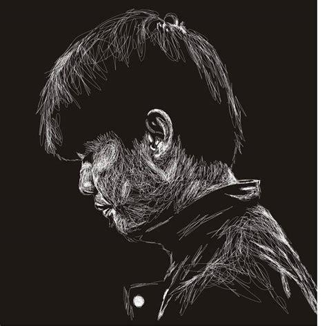 desain gambar wajah 50 contoh desain wajah dengan coretan coretan abstrak efek