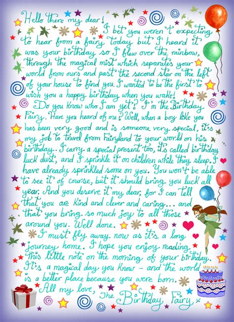 Letter For Boy Birthday Letter For A Boy Rooftop Post Printables