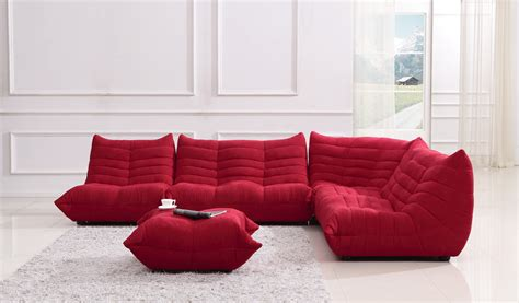 red sectional sofa bloom red fabric sectional sofa
